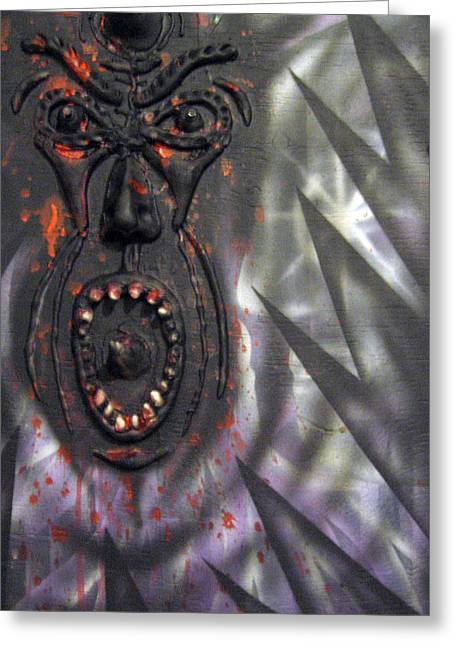 Screaming Greeting Card by Leigh Odom