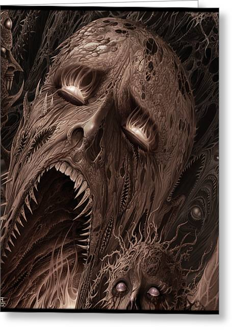 Screams From Beyond Greeting Card