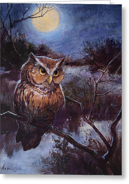 Screech Owl Greeting Card