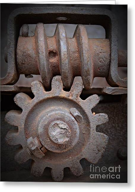 Screw And Gear  Greeting Card