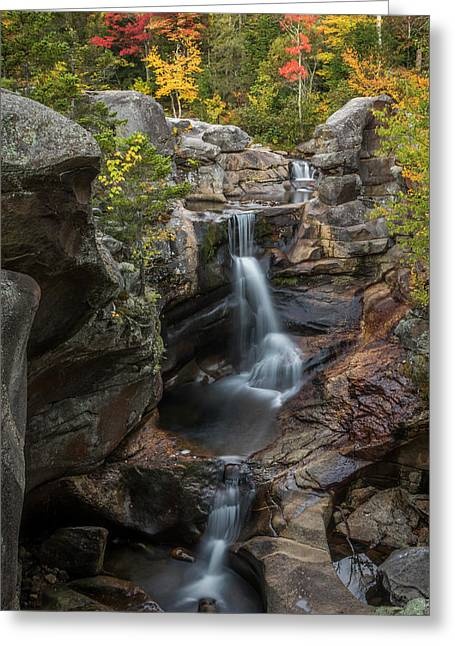 Screw Auger Falls In Autumn Greeting Card