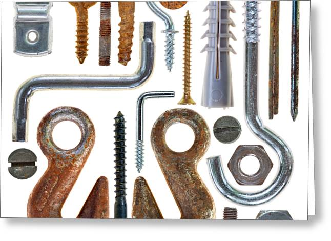 Screws, Nut Bolts, Nails And Hooks Greeting Card