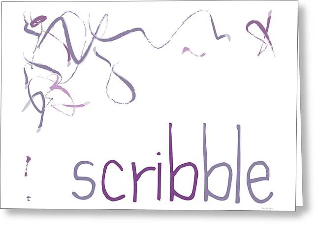 Scribble Greeting Card by Dani Marie