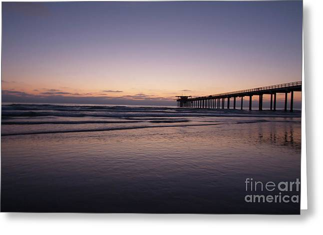 Scripps Pier At Sunset Greeting Card