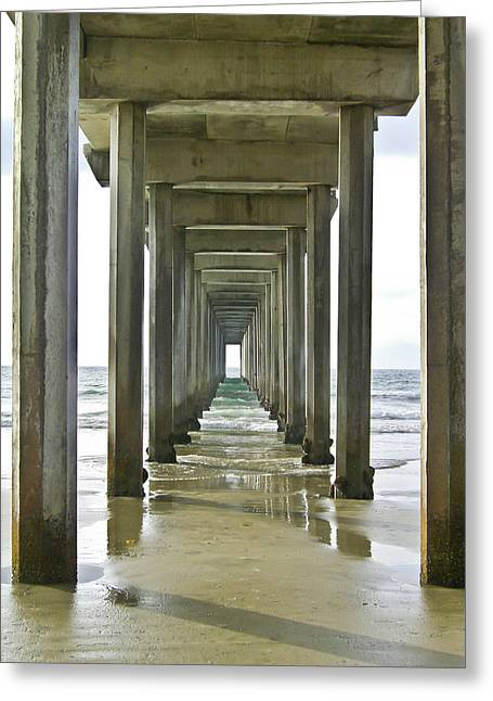 Scripps Pier La Jolla Greeting Card