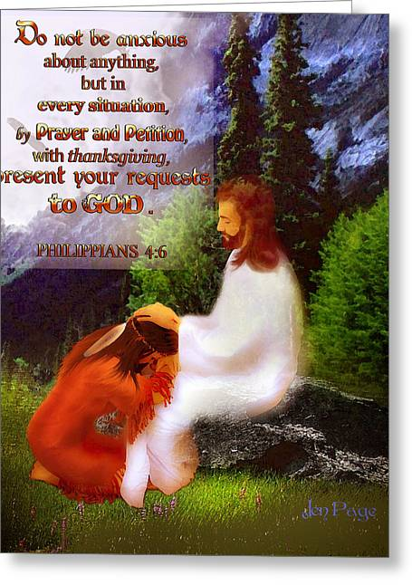 Scripture Art   Native Prayer Greeting Card