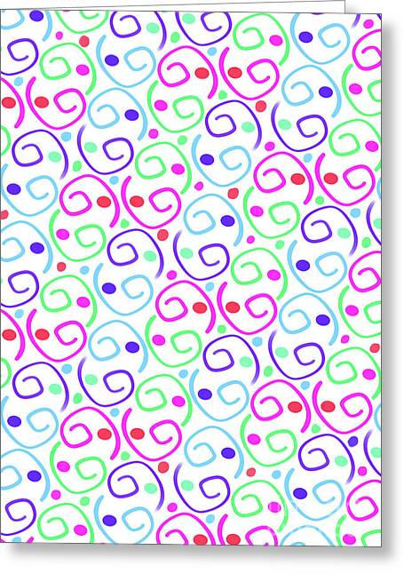 Scrolls Greeting Card by Louisa Knight
