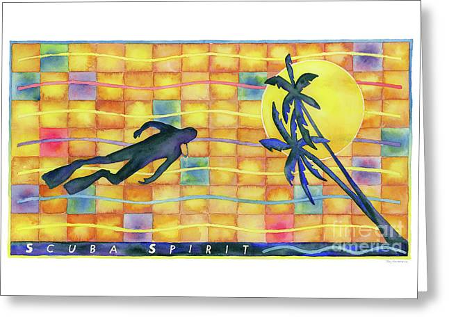 Scuba Spirit Greeting Card by Amy Kirkpatrick