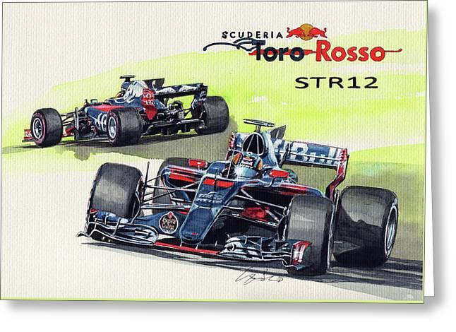 Scuderia Toro Rosso Str12 Greeting Card