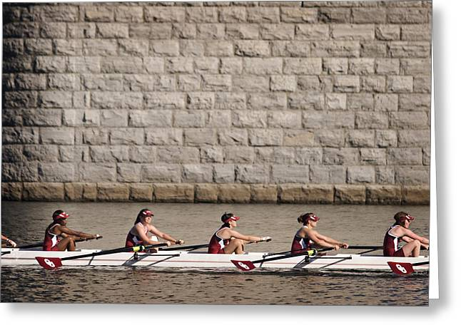 Scullers Waiting Greeting Card