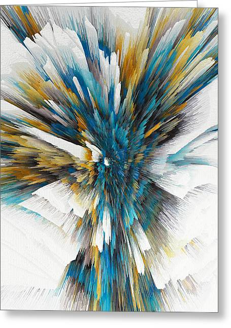Greeting Card featuring the painting Sculptural Series Digital Painting 08.072311ex490l by Kris Haas
