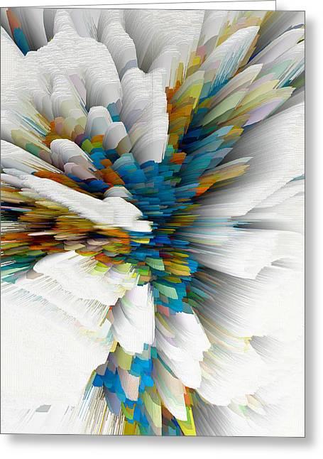 Greeting Card featuring the digital art Sculptural Series Digital Painting 08.072311wscvssex490l by Kris Haas