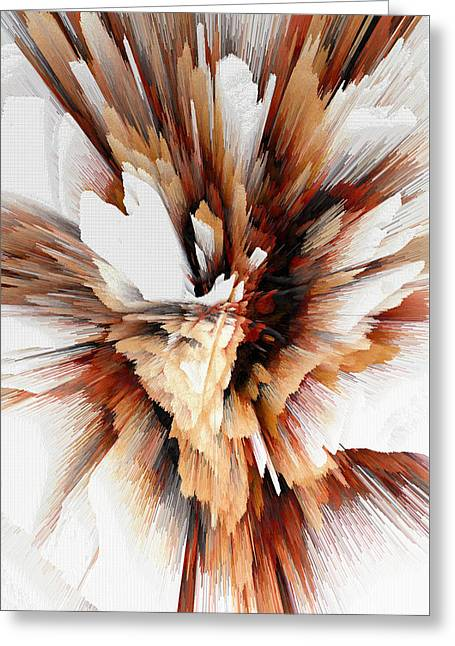 Greeting Card featuring the digital art Sculptural Series Digital Painting 23.120210ext5100l by Kris Haas