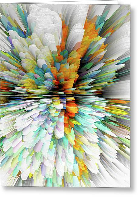 Greeting Card featuring the digital art Sculptural Series Painting23.102011windblastsccvsext4100l by Kris Haas