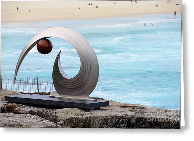 Sculpture By The Sea - Balance And Curves  - Photograph By Kaye Menner Greeting Card by Kaye Menner
