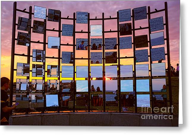 Sculpture By The Sea - Half Gate By Kaye Menner Greeting Card