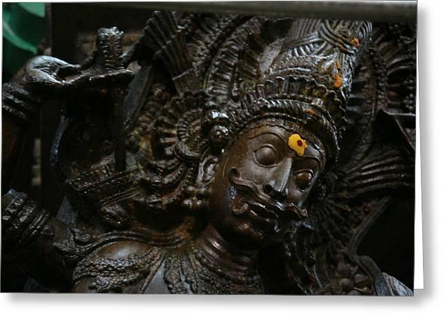 Sculpture Greeting Card by Deepak Pawar