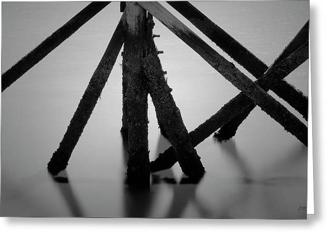 Scusset Pier I Bw Greeting Card