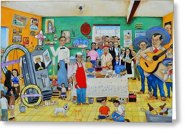Se Murio El Muerto.  Greeting Card by Juan Manuel Rocha Espinosa
