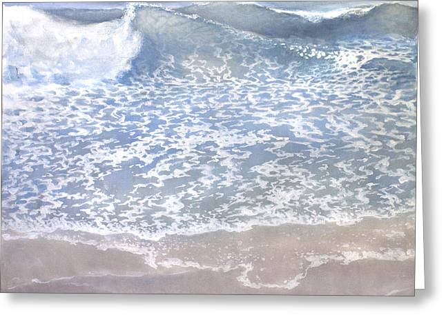 Greeting Card featuring the painting Sea 2 by Valeriy Mavlo