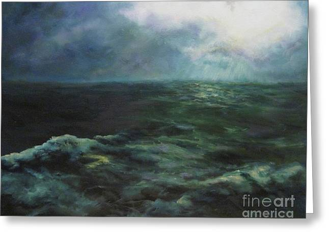 Sea And Sky Greeting Card by Diane Kraudelt