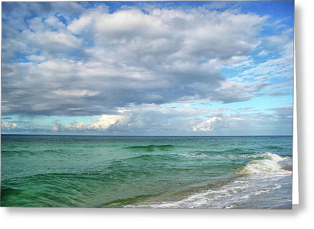 Sea And Sky - Florida Greeting Card by Sandy Keeton
