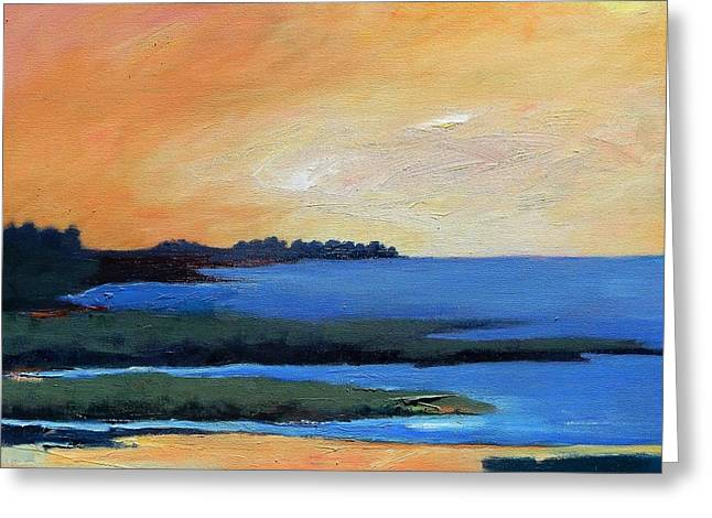 Greeting Card featuring the painting Sea And Sky by Gary Coleman