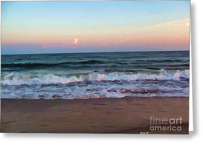 Greeting Card featuring the photograph Sea And Sky by Roberta Byram