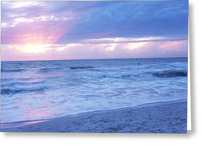 Sea At Dusk, Gulf Of Mexico, Naples Greeting Card by Panoramic Images