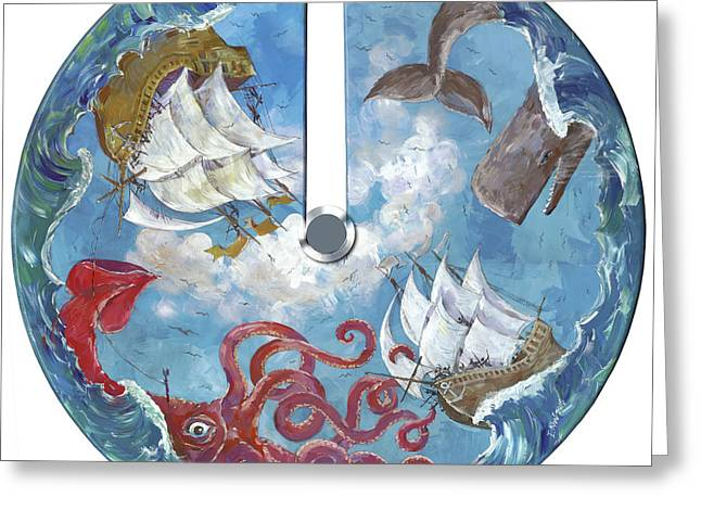 Sea Battle Greeting Card