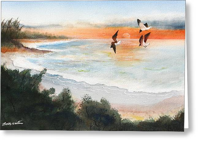 Sea Birds Greeting Card by Bobby Walters