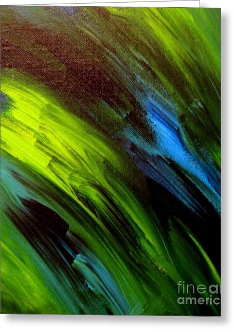 Sea Breeze Abstract Greeting Card by Shelly Wiseberg