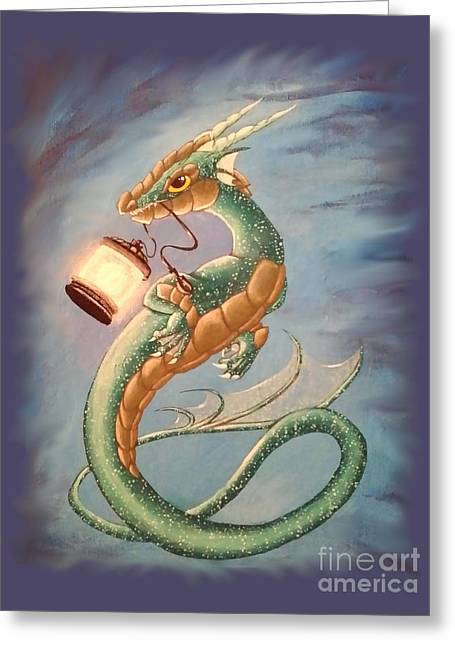 Sea Dragon And Lantern Greeting Card