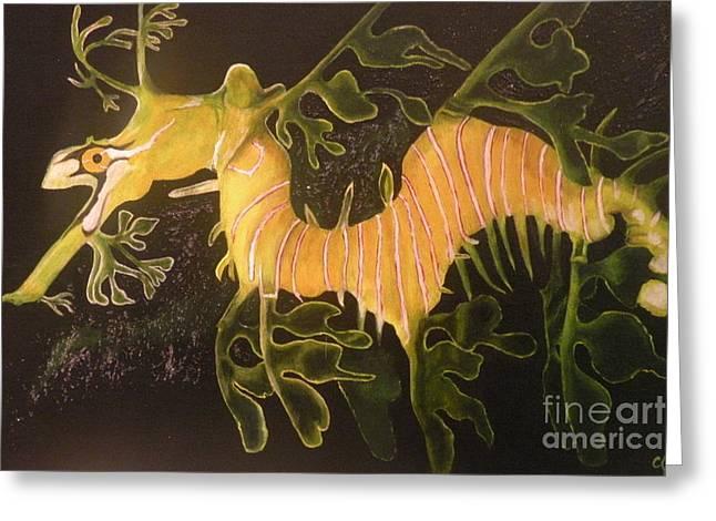 Sea Dragon Greeting Card by Carol Northington