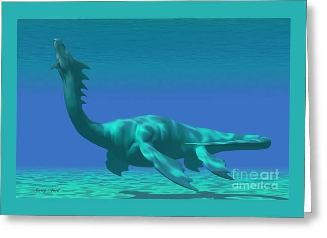 Sea Dragon Greeting Card by Corey Ford