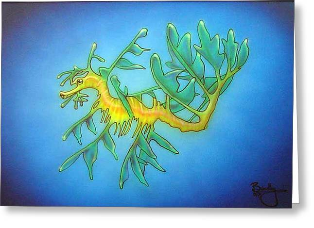 Leafy Sea Dragon Greeting Cards - Sea Dragon Greeting Card by Michael  Brindley