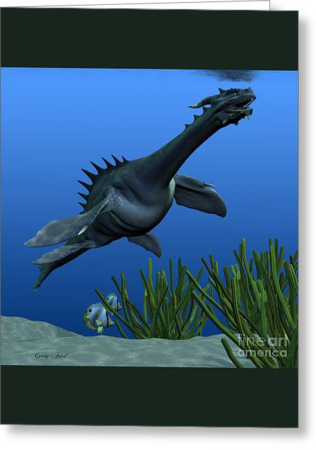 Sea Dragon On Reef Greeting Card by Corey Ford