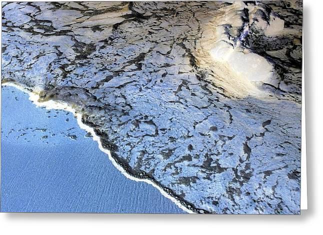 Sea Foam Shoreline Greeting Card