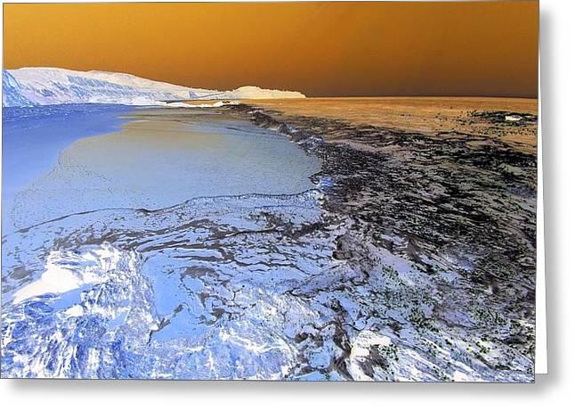 Sea Foam World Greeting Card
