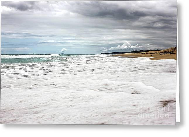 Greeting Card featuring the photograph Sea Foam And Clouds By Kaye Menner by Kaye Menner