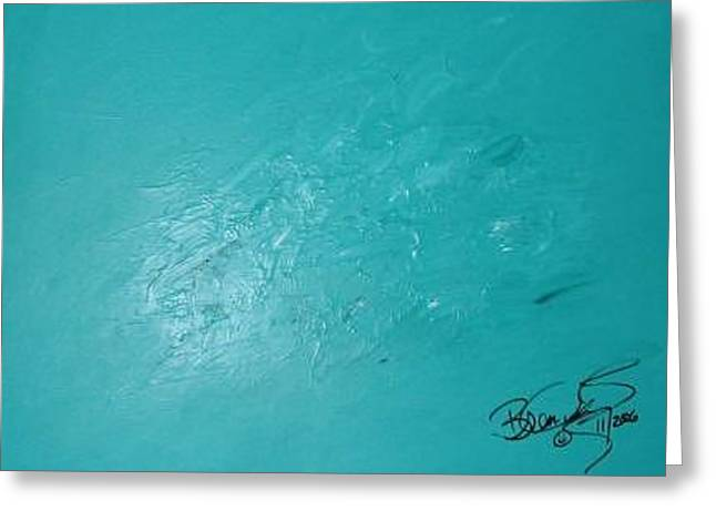 Sea Foam Greeting Card by Brenda Basham Dothage