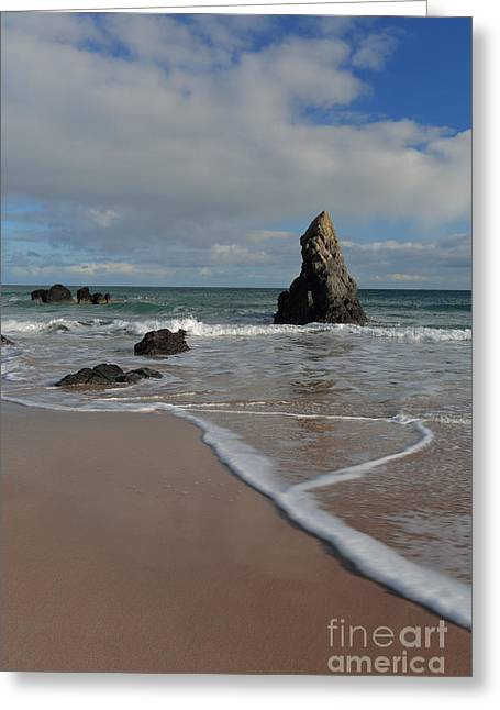 Sea Foam On Sango Bay Greeting Card
