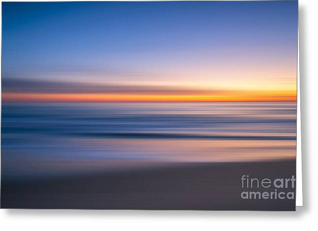 Sea Girt New Jersey Abstract Seascape Sunrise Greeting Card