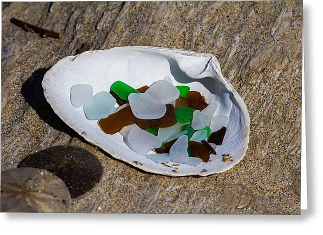 Sea Glass Treasure  Greeting Card
