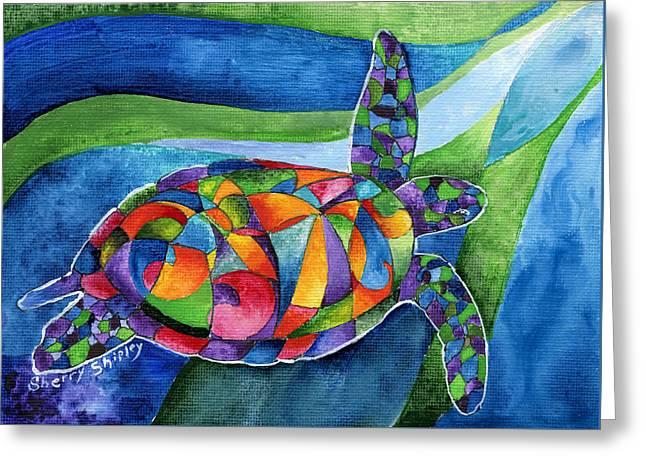 Sea Gypsy Greeting Card by Sherry Shipley