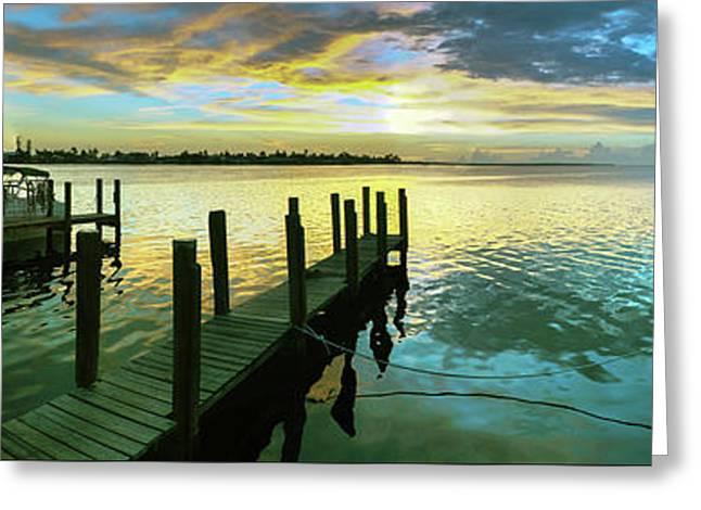 Sea Hab Panoramic Greeting Card