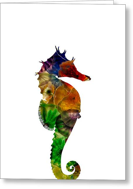 Greeting Card featuring the photograph Sea Horse by Michael Colgate