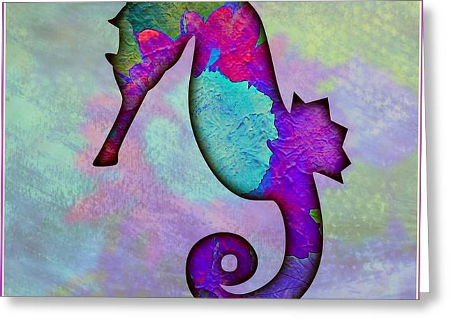 Sea Horse Greeting Card by Mindy Newman