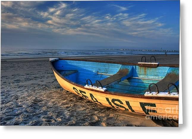 Sea Isle City Lifeguard Boat Greeting Card