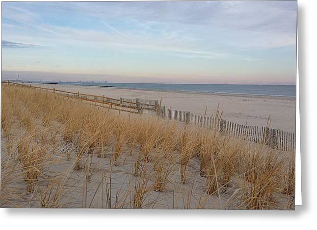 Sea Isle City, N J, Beach Greeting Card